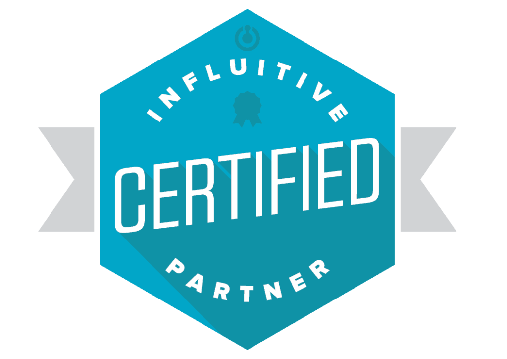 influitive customer advocacy certified partner badge
