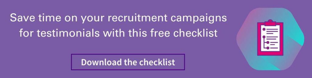 customer video testimonials recruitment campaign checklist banner
